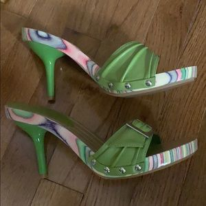 Mia heeled sandals-EUC